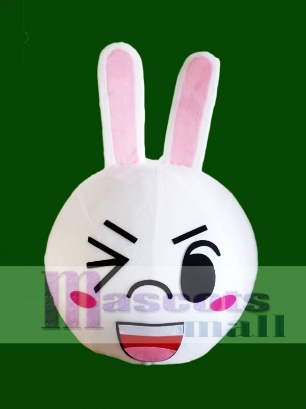Wink Eye Cony Rabbit Bunny Mascot HEAD ONLY Line Town Friends