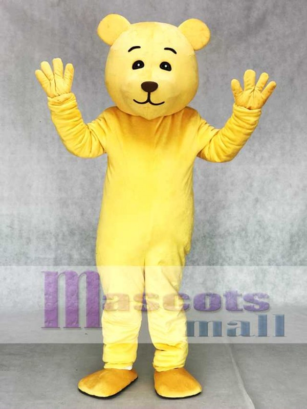 Lovely Yellow Teddy Bear Mascot Costume Animal