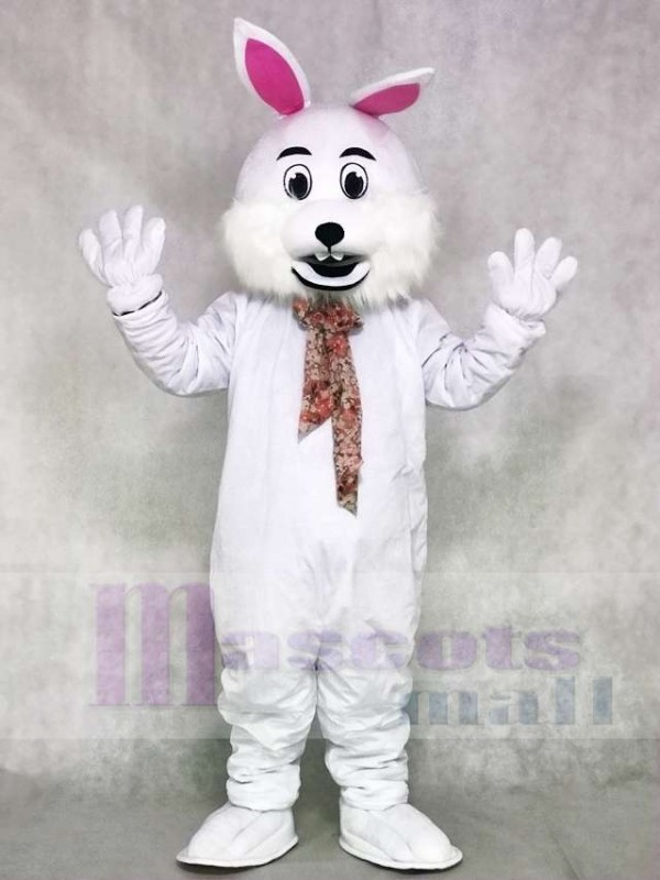 White Rabbit Easter Bunny Mascot Costumes Animal