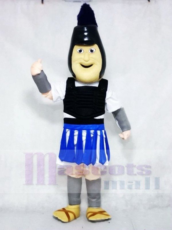 Royal Blue Troy Trojan Mascot Costumes People
