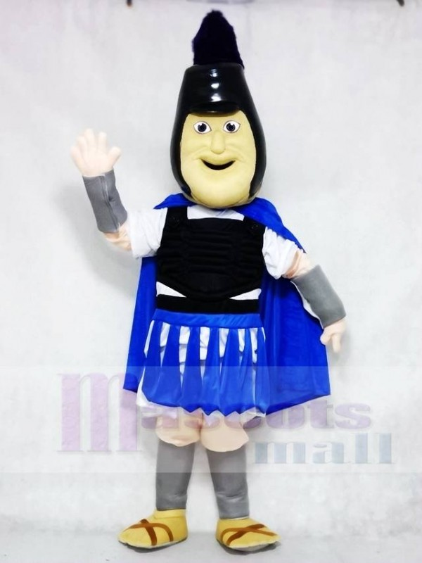 Troy Trojan with Royal Blue Cloak Mascot Costumes People
