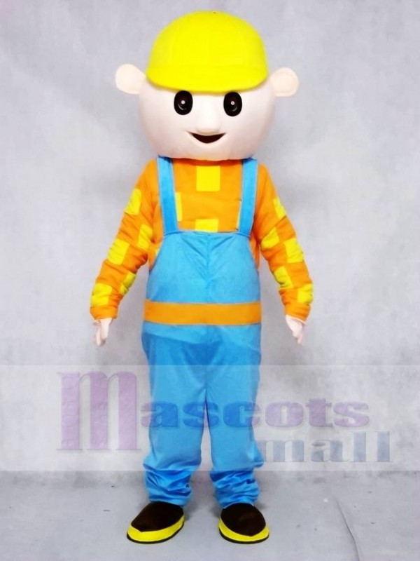 Bob the Builder Yellow Hat Construction Boy Mascot Costumes People