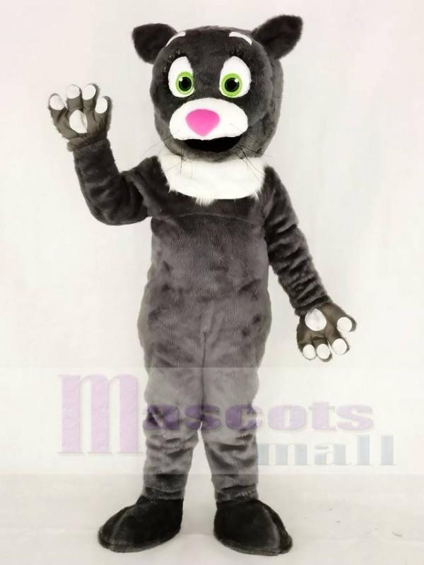 Hairy Gray Cat Mascot Costumes Animal