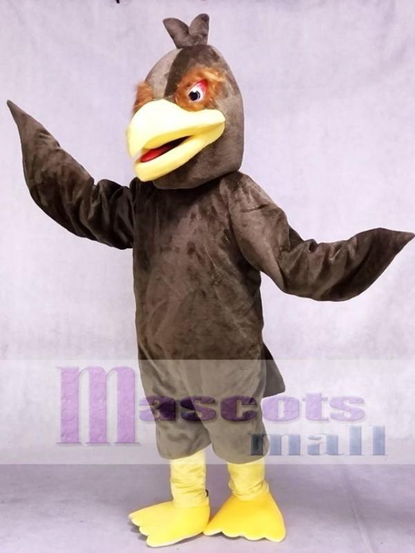 Brown Feather Hawk Falcon Eagle Mascot Costume Animal