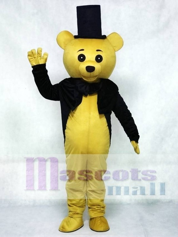 & Ritual Bear Adult Mascot Costume Brown Teddy Bear Gentleman Suit
