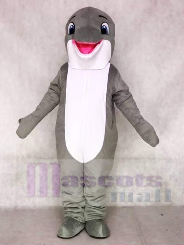 & Lovely Grey Dolphin Mascot Costumes Sea Ocean