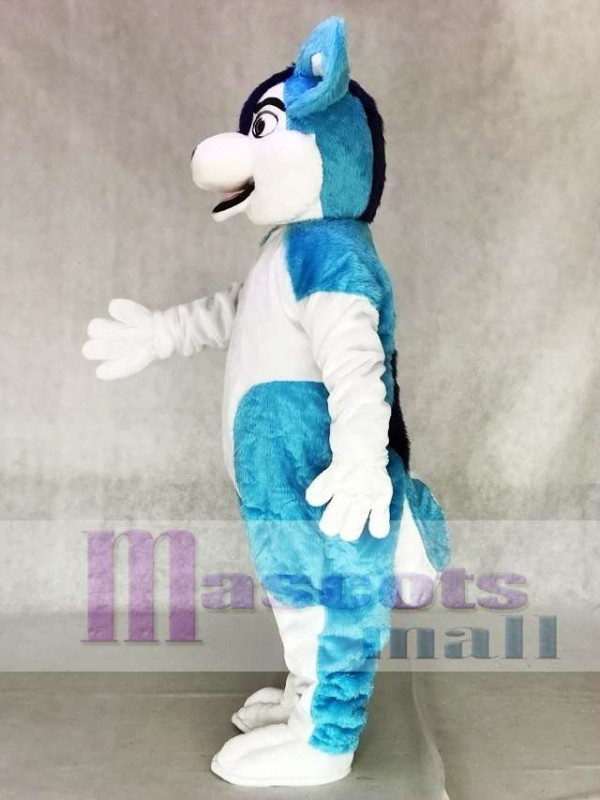 Blue Husky Dog Fursuit Adult Mascot Costume Animal