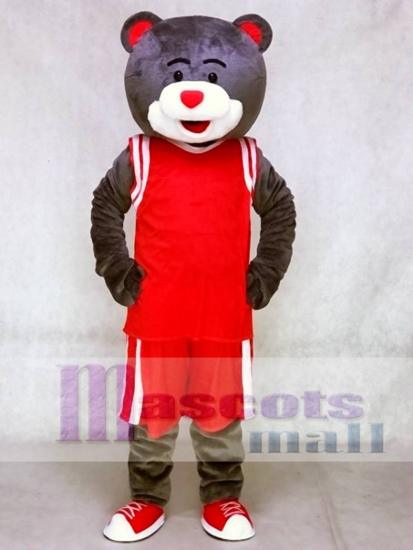 c0fbdd540c868 Clutch the Bear Mascot Costume Houston Rockets Grey Bear Mascot