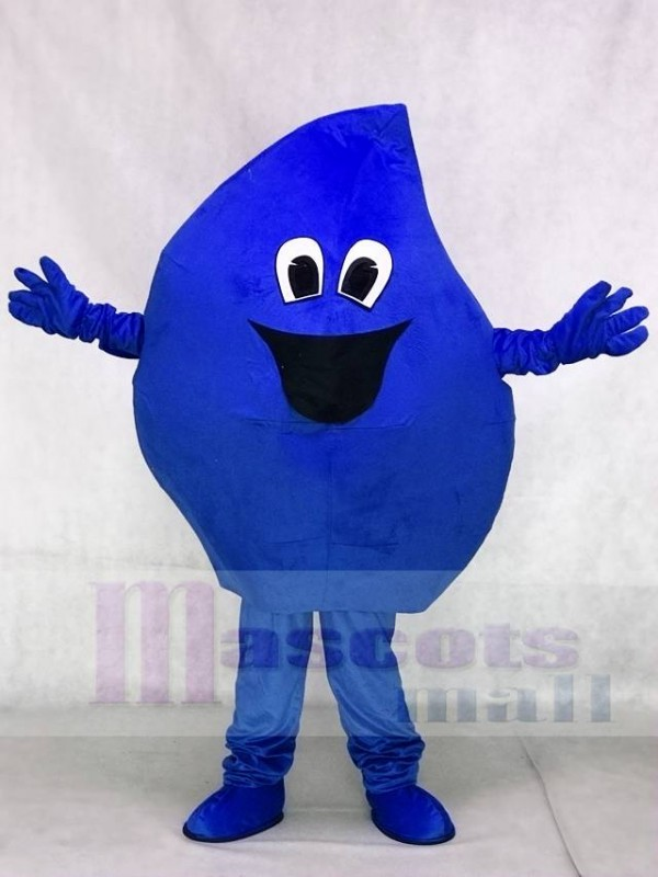 Blue Raindrop Sea Water Drop Mascot Costume