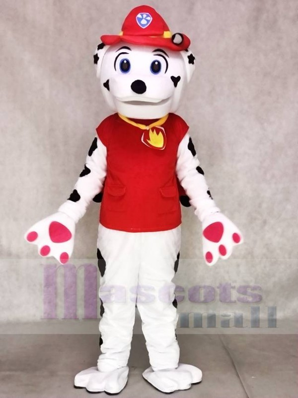 Paw Patrol Marshall Dog Mascot Costume With Red Clothing