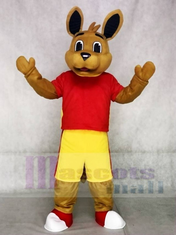 High Quality Red Shirt Kangaroo Mascot Costumes Animal