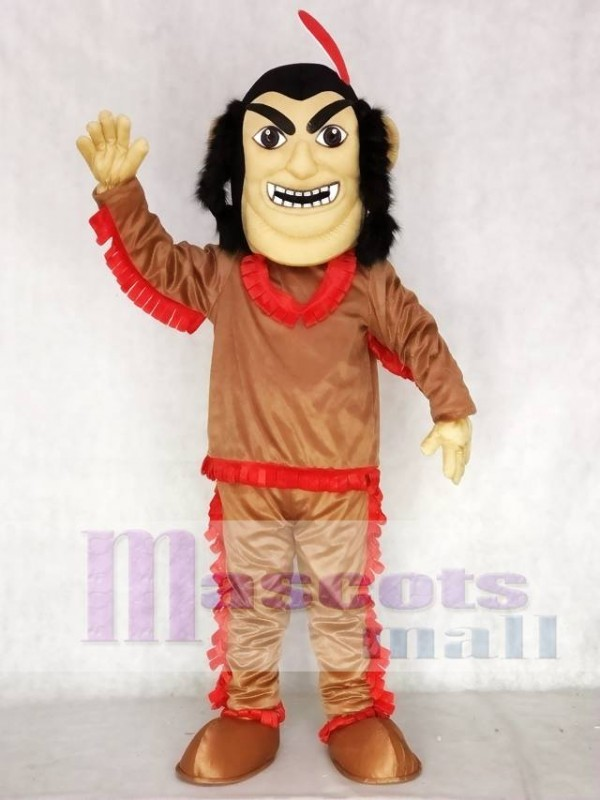 sc 1 st  mascot costume & Brown Shirt Native American Indian Mascot Costume with Red Feather