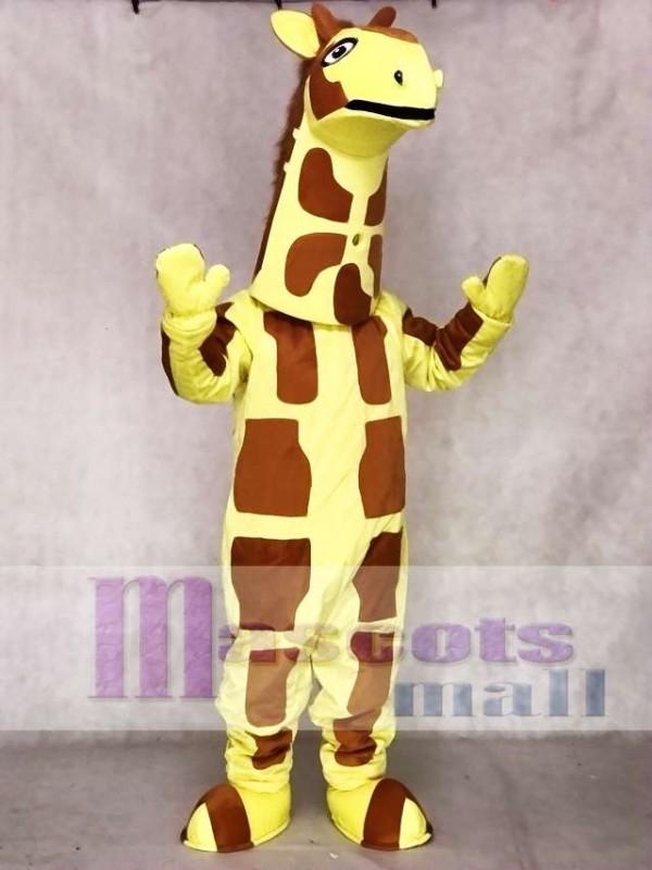 Cute Yellow Giraffe Mascot Costume Animal