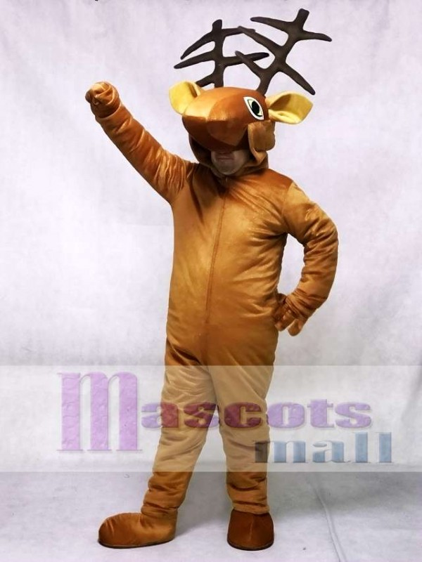 & Coffee Deer Open Face Kids Mascot Costume