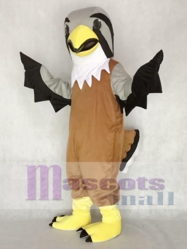 cute grey head falcon mascot costume animal