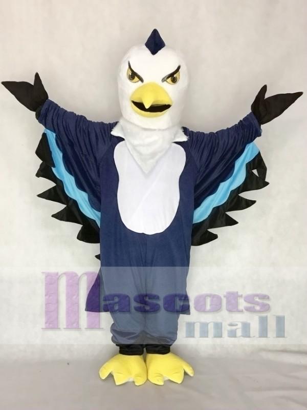 Dark Blue Thunderbird Mascot Costume