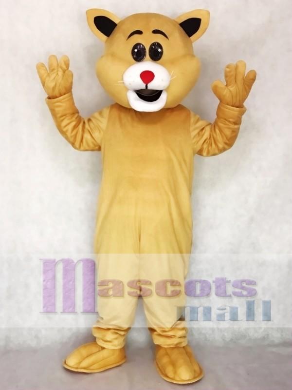 Red Nose Big Ear Cat Mascot Costume