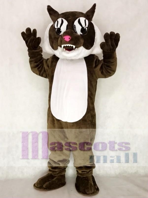 Super Brown Wildcat Cat Mascot Costume