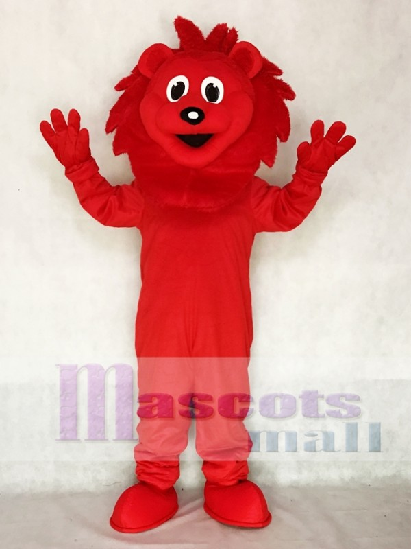 Red Lion Mascot Adult Costume Animal