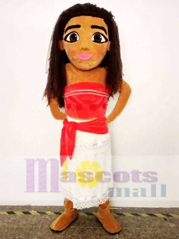 Moana Mascot Costume Princess Cosplay Halloween Party Mascot Costume