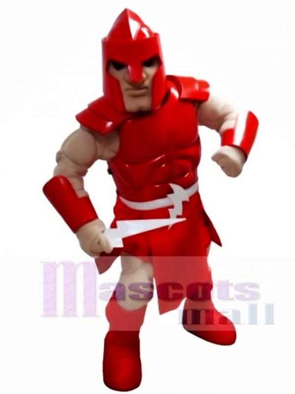 Red Titan Spartan Trojan Knight Warrior Mascot Costume
