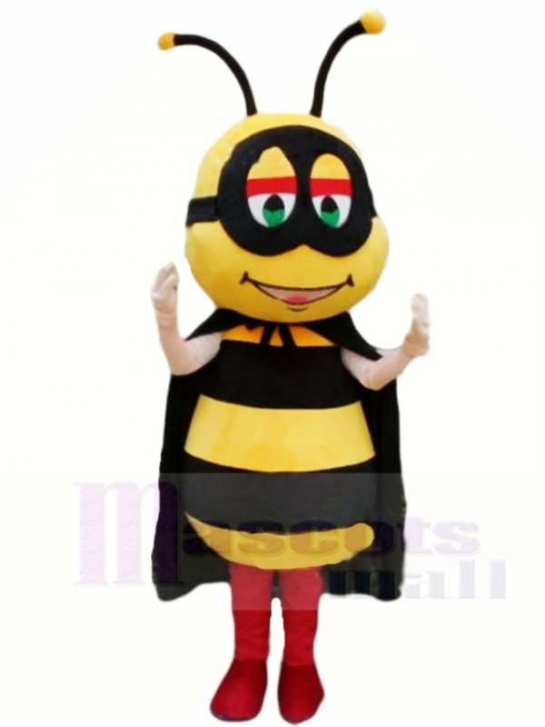 Honeybee with Black Cape Mascot Costumes Insect