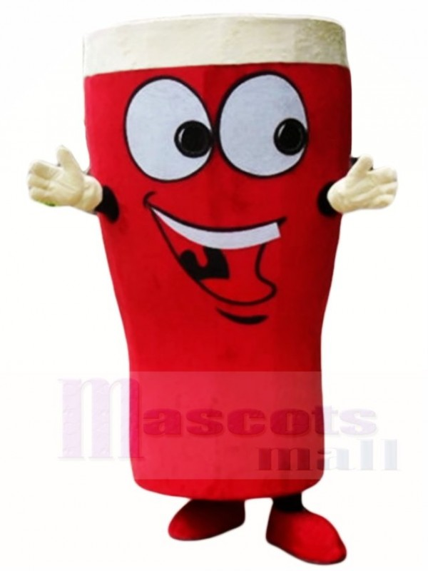 Glass Beer Red Beer Bottle Mascot Costumes Drink