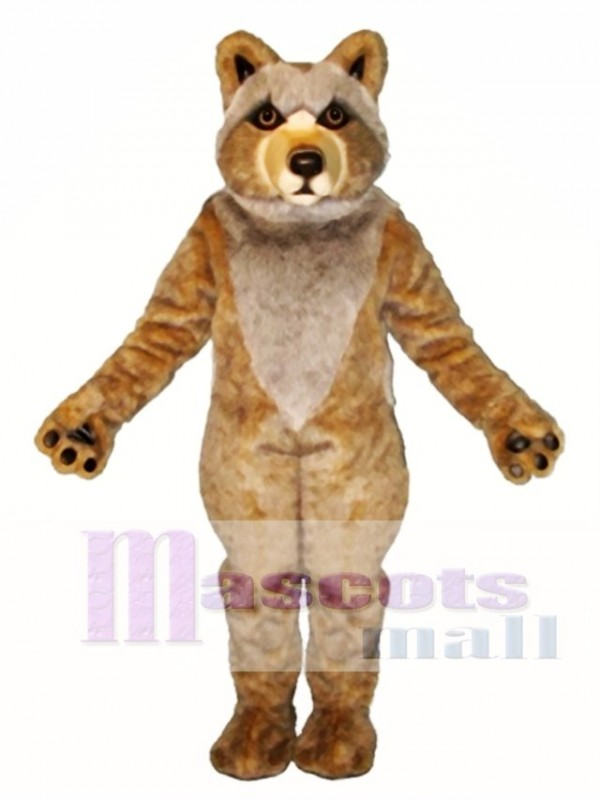 Cute Mexican Grey Wolf Mascot Costume