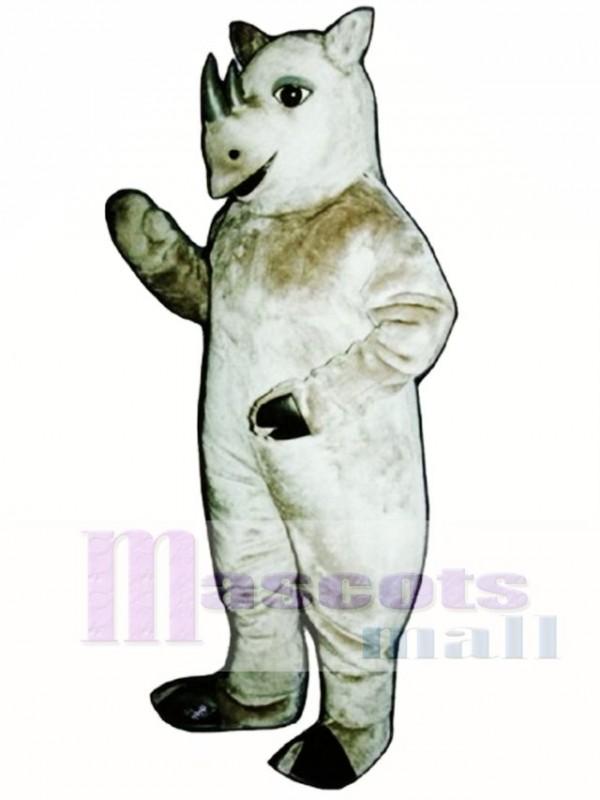 Cute Realistic Rhinoceros Mascot Costume