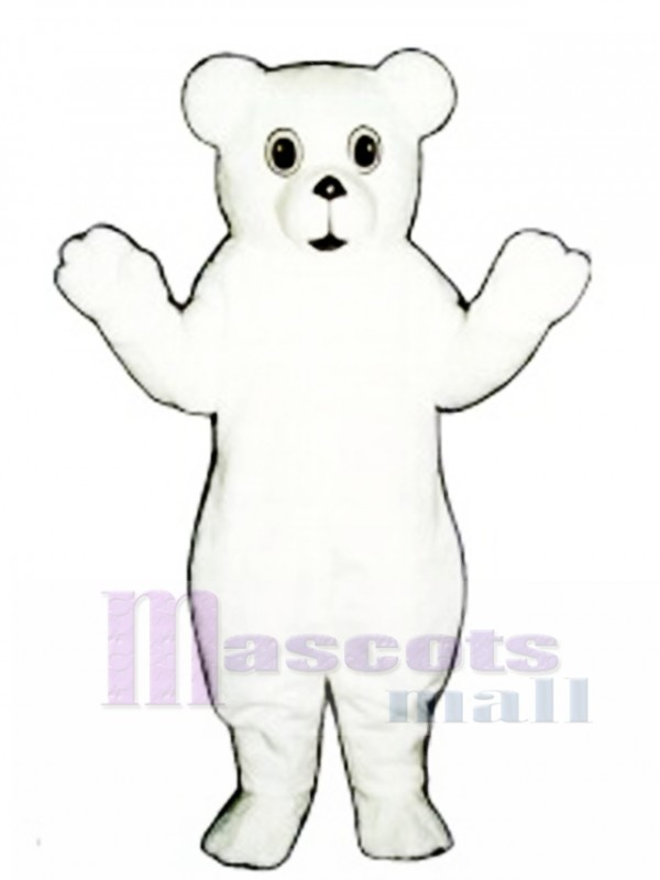 Snow Bear Cub Mascot Costume