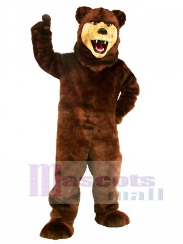 New Grizzly Bear Mascot Costume