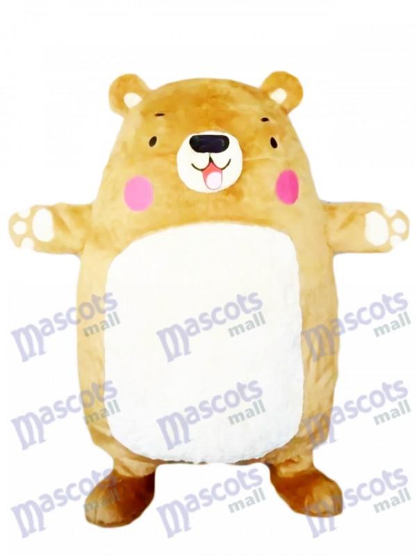 Big Bear Mascot Costume Tan Bear Animal