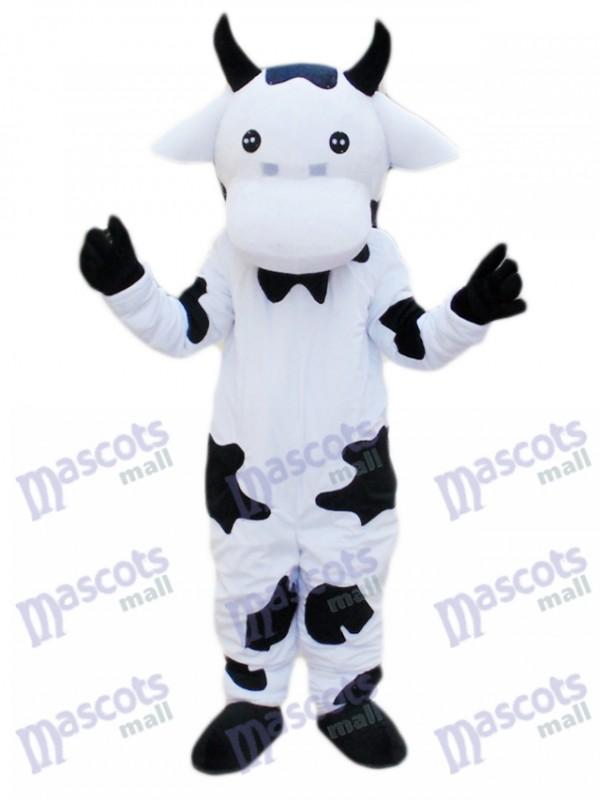 Black and White Cow Mascot Costume