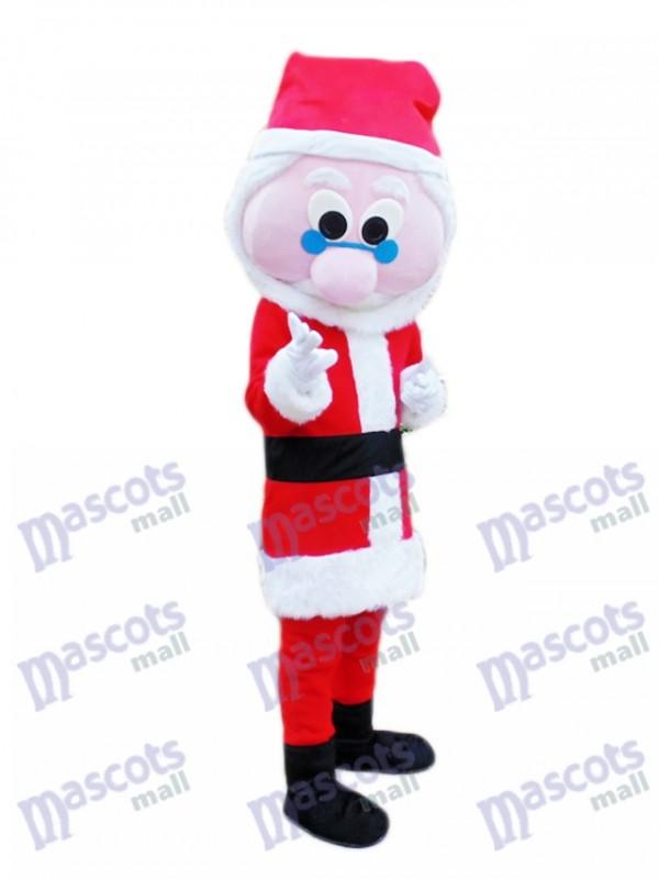 Blue Glasses Father Christmas Santa Claus Xmas Mascot Costume