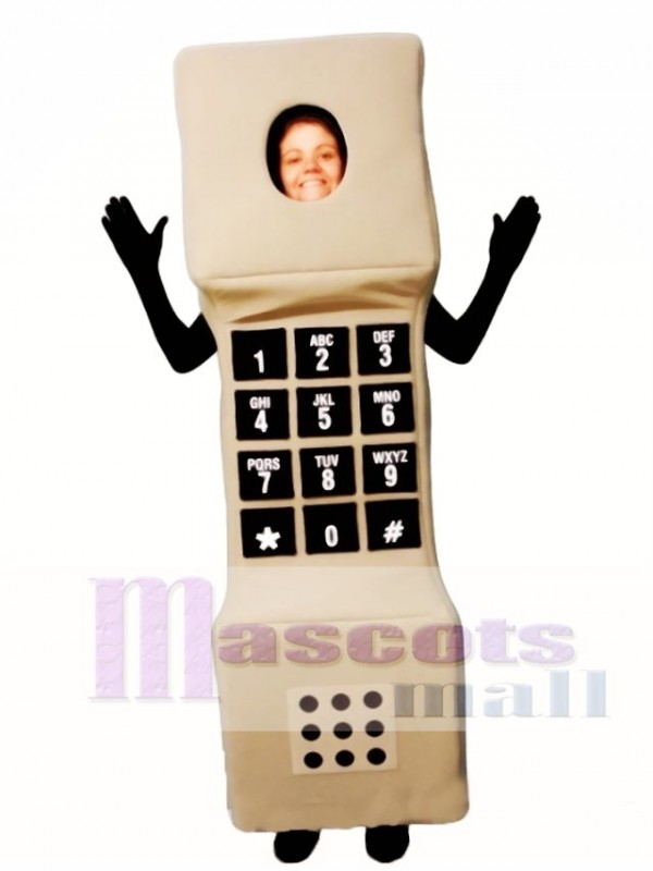 Open Face Phone Mascot Costume