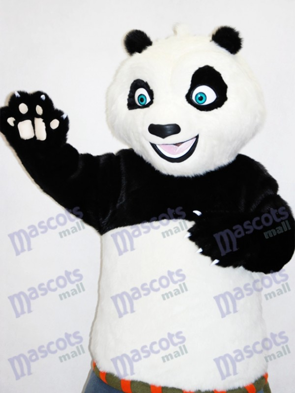 Blue Eyes Kungfu Panda Karate Adult Mascot Costume