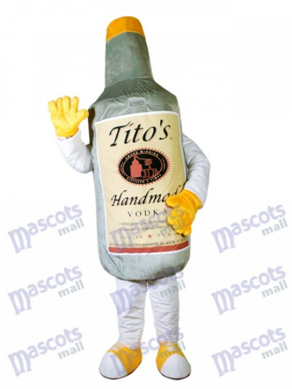 Gray Vodka Wine Bottle Mascot Costume