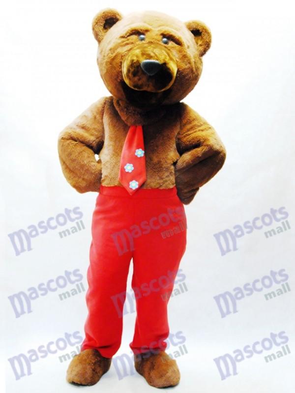 Dandy Bear Mascot Costume