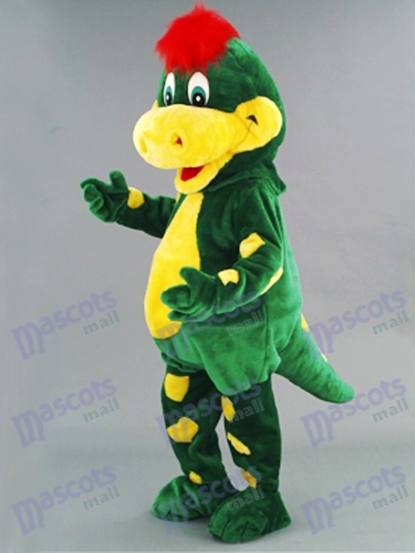 & Green Dino Dinosaur Mascot Costume Animal