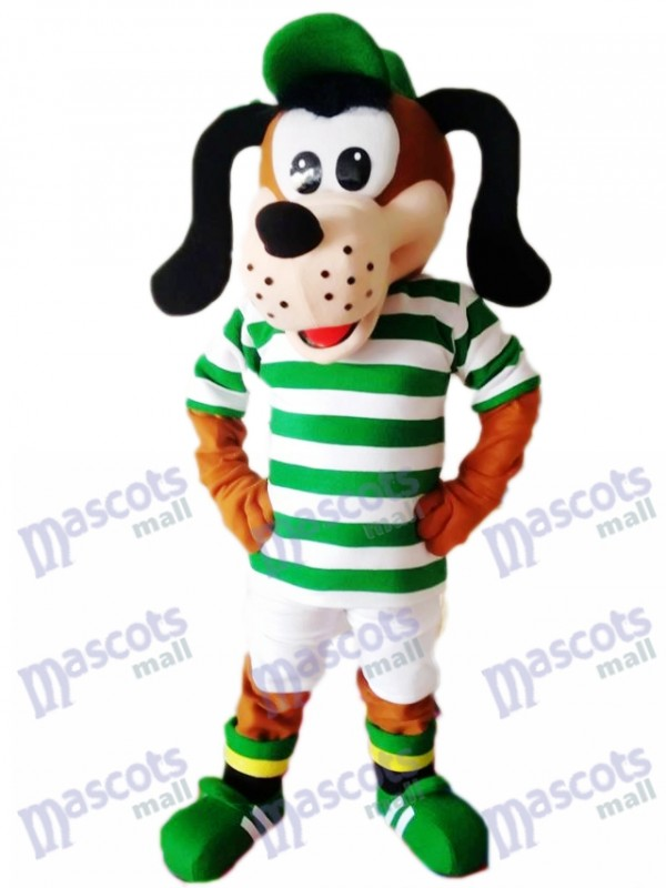 Cute Dog in Striped Shirt Mascot Costume Animal