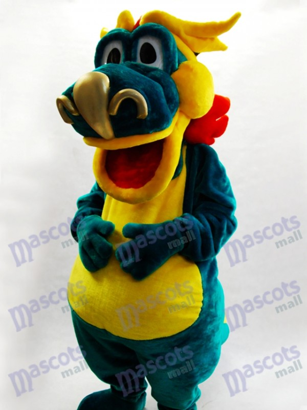 Big Mouth Green Dino Dinosaur Mascot Costume