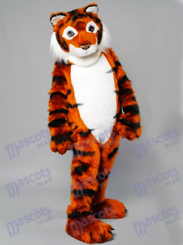 Friendly Tiger Mascot Adult Costume