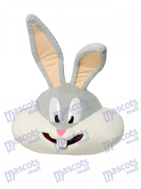 Gray Bunny Mascot Head ONLY