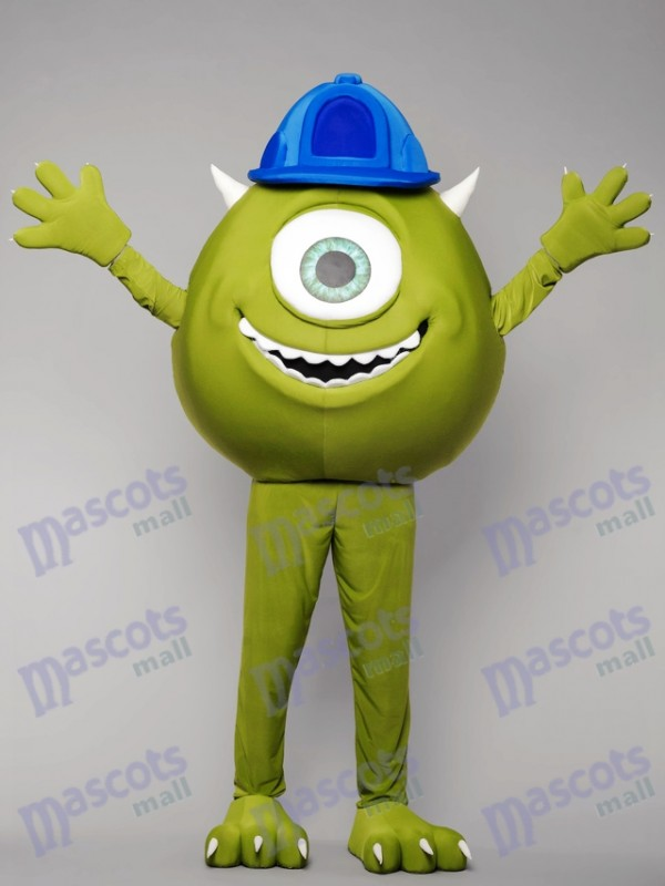 Green Monster Mike Mascot Costume