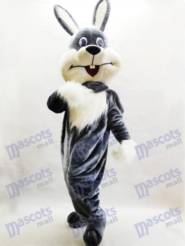 Gray Bunny Easter Rabbit Hare Mascot Costume