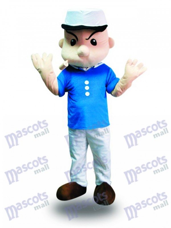 Popeye the Sailor Man Mascot Costume Cartoon