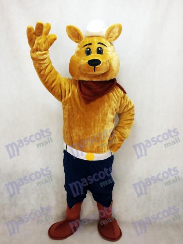 Cowboy Coyote Wolf Mascot Costume