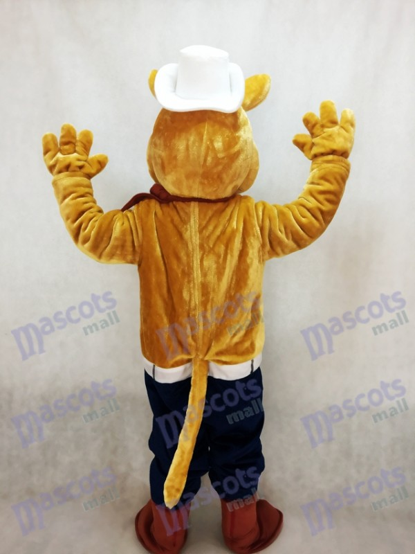 Coyote Wolf Cowboy Mascot Costume
