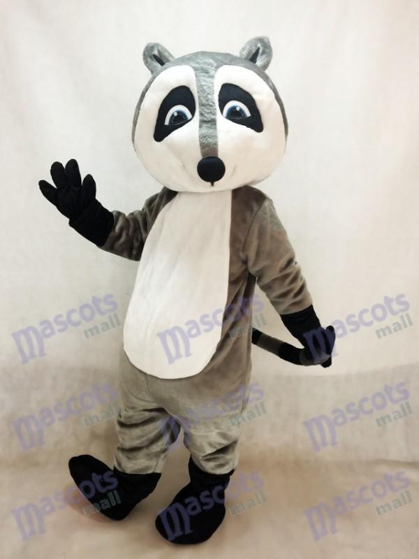 Grey Raccoon Mascot Costume Anima
