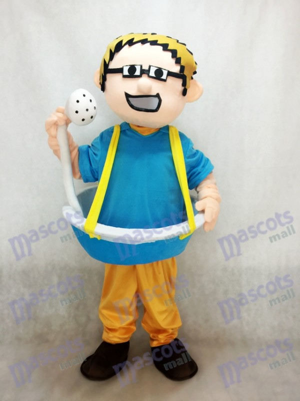 Bathtub Man plus Shower Head Mascot Costume
